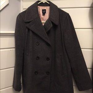 Gap gray wool pea coat